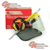 Mesh & Clear Face Shield Inc. Ear Muffs