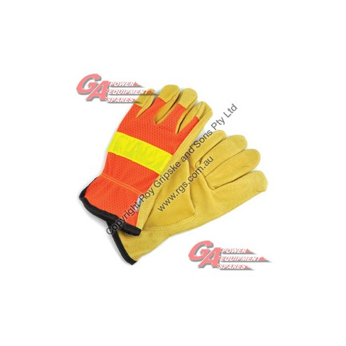 Leather Gloves * ( Large )