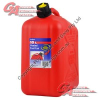 10 Lit. Red Plastic Fuel Can