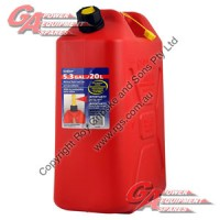 20 Lit. Red Plastic Fuel Can