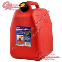 25l. Plastic Fuel Can ** Red